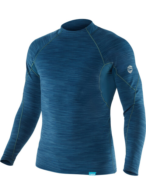 NRS M's HydroSkin 0.5 Long Sleeve Shirt Moroccan Blue